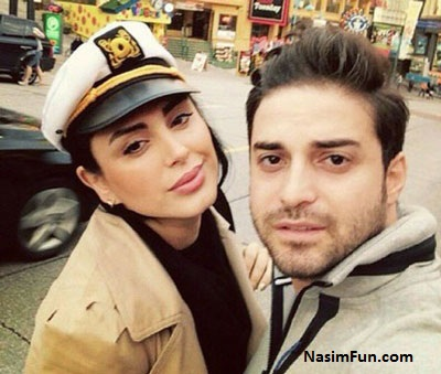 عکس بابک جهانبخش و همسرش مروارید شهریاری