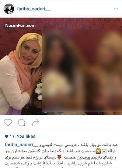 عکس پست حذف شده و جنجالی فریبا نادری