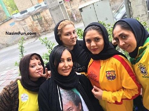 عکس آزاده زارعی در تیم فوتسال دختر ناصر حجازی