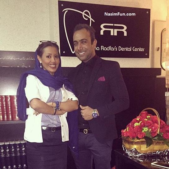 عکس بازیگران مرد با خانم دکتر رها رادفر دندانپزشک