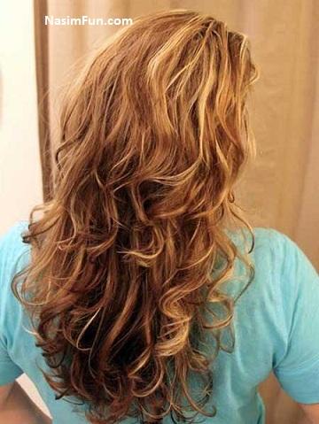 آموزش تصویری فر کردن مو سر در خانه فروردین ۹۵