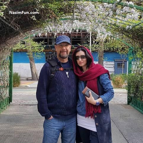 عکس محمد بحرانی صداپیشه جناب خان و همسرش مهناز