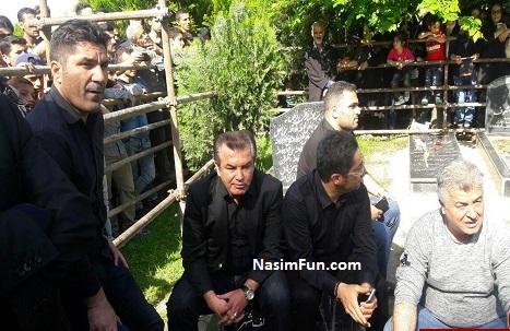 عکس های خاکسپاری مرحوم مهرداد اولادی 2 اردیبهشت 95