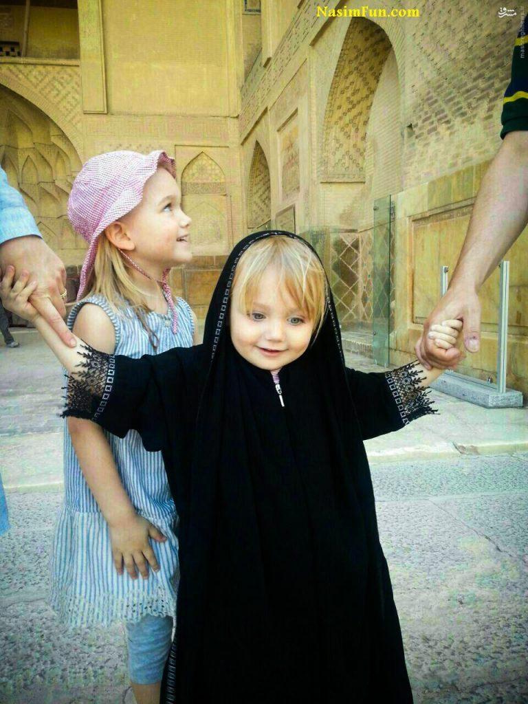 حجاب زیبای دختر خشگل فرانسوی در ایران + عکس