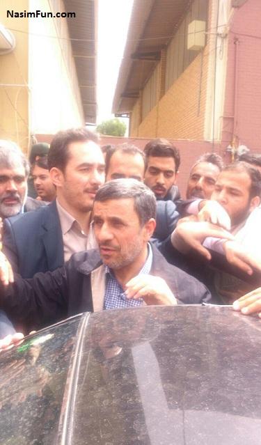 عکس و فیلم حاشیه سفر احمدی نژاد به کرمان ۱۲ اردیبهشت ۹۵