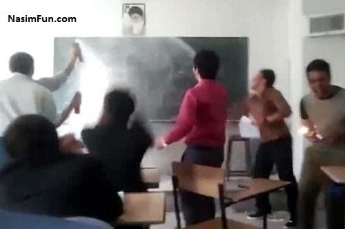 دانلود فیلم آتش گرفتن معلم در روز معلم اندیمشک
