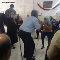 کلیپ رقص جالب بهنوش بختیاری در خانه سالمندان