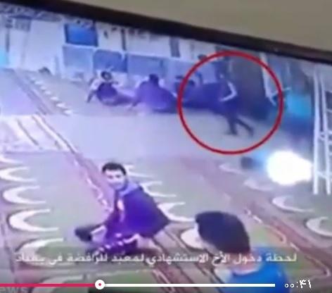 لحظه انفجار عامل داعش در مسجد شیعیان بغداد