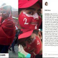 """حضور جنجالی شیوا """"دختر پرسپولیسی"""" در استادیوم آزادی (عکس + ویدئو)"""