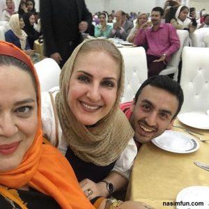 مراسم افطاری بهاره رهنما و فاطمه گودرزی با پسرش برای بیماران ام اس+عکس