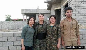 دختران ایزدی با داعش مبارزه می کنند+عکس