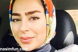 نظرسنجی خانم بازیگر 24ساله درباره رنگ روسری اش!! +عکس