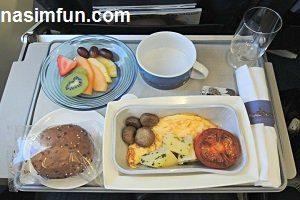 اعتراض تعدادی از مسافران به کیفیت غذا در هواپیما+ عکس