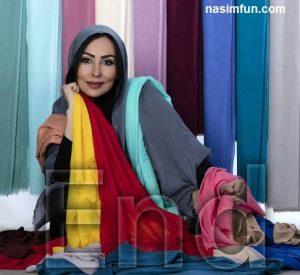 پرستو صالحی مدل تبلیغاتی یک برند شال و روسری شد!! +عکس