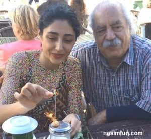جشن تولد ۳۳ سالگی گلشیفته فراهانی در کنار پدرش + عکس