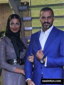 عکس عاشقانه وزیباعلیرام نورایی و همسرش در اکران فیلم ناردون
