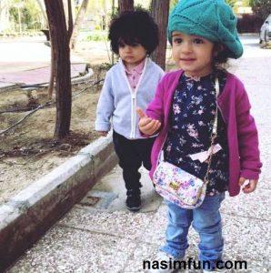 عکس های جدید مجید صالحی ودوقلوهایش!!
