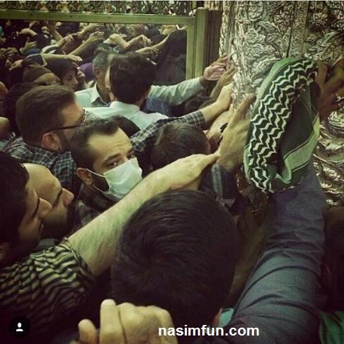 امیرتتلو در حرم امام رضا (ع)+عکس