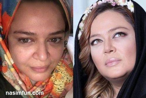 عکس های دیدنی بازیگران زن ایرانی قبل و بعد از آرایش!!!