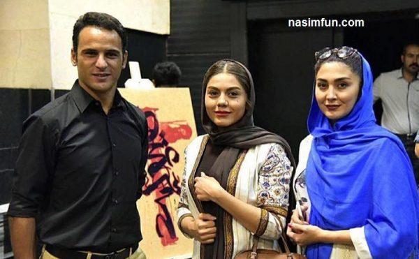 عکس جدبد آرش برهانى در کنار دو بازیگر زن در تئاترپری