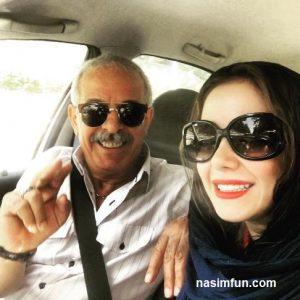 عکس سلفی جدید النازحبیبی در کنار پدرش