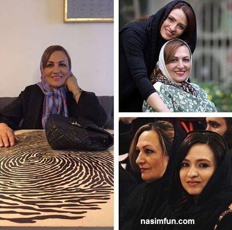 عکس جنجالی شباهت گلاره عباسی به مادرش!!