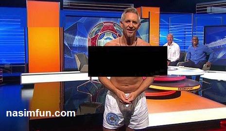 عکس مجری النگلیسی با لباس زیر و لخت در برنامه زنده