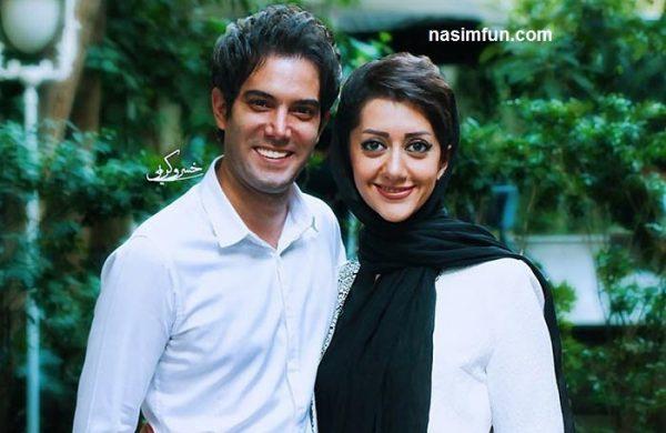 عکس های عاشقانه وجدید امیر علی نبویان و همسرش دریک مراسم