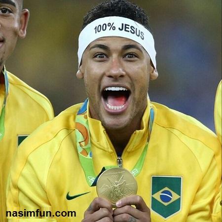 عکس فوتبالیست معروف (نیمار) در المپیک 2016 با دو میلیون لایک+عکس جدید