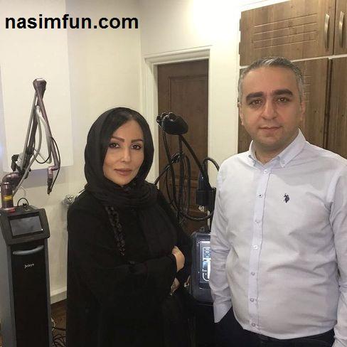 تبلیغ پرستو صالحی برای دکتر پوست و موی اش!!!+عکس