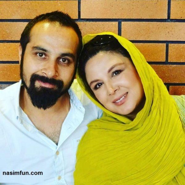 عکس عاشقانه شهره سلطانی و همسرش