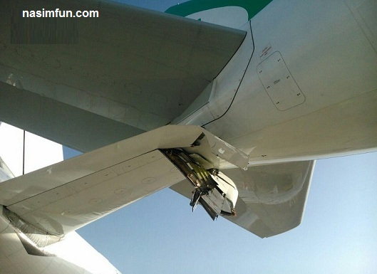تصادف هواپیمای ماهان ایر و ایران ایر در فرودگاه امام خمینی!!!+عکس