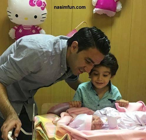 دختر جواد نکونام به دنیا آمد !!+عکس جواد نکونام وفرزندانش