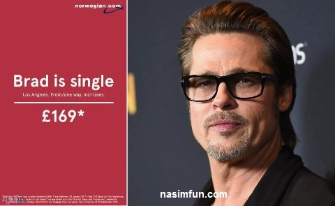 تبلیغ جالب مخصوص زن ها بعداز مجرد شدن برد پیت!!!+عکس