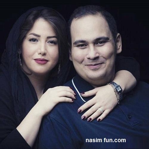 عکس جدید وعاشقانه رضا داوود نژاد درآغوش همسرش!!!+عکس