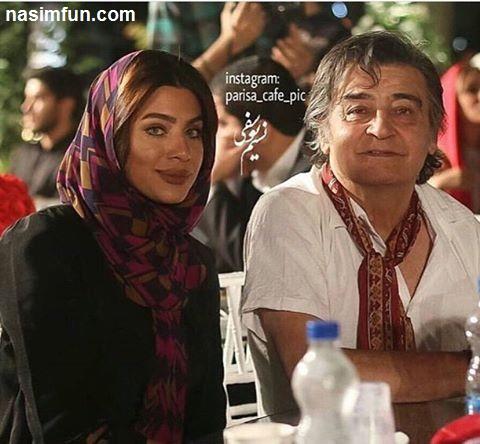 رضا رویگری و همسرش در یکی از جشن های سینمایی