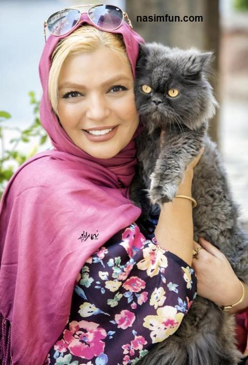 عکس جدید شهرزاد عبدالمجید بازیگر47ساله کشورمان درکنار گربه اش!!!+عکس