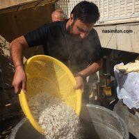 عکس جدید ودیدنی محمد علیزاده در حال پختن نذری!!!+عکس