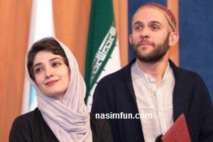 عکس های بابک حمیدیان و همسرش مینا ساداتی دربین دانشجویان!!!+عکس