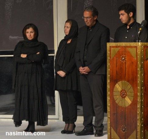 عکس پسر وعروس داوود رشیدی در مراسم چهلم داوود رشیدی!!+عکس
