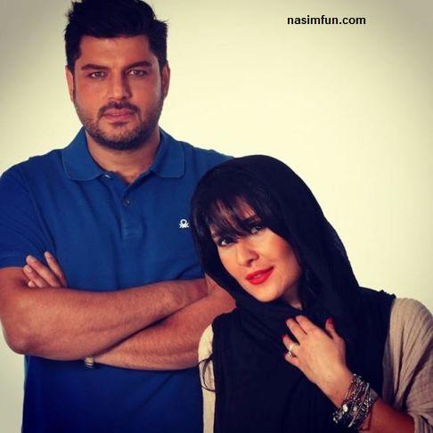 عکس سام درخشانی و همسرش عسل امیر پور درسالگرد ازدواج شان!!