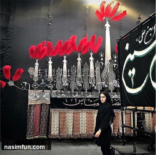 الناز شاکردوست در مراسم عزاداری امام حسین ( ع)!!+عکس