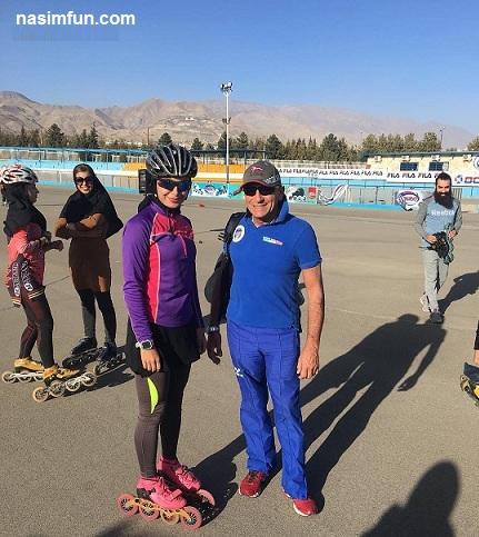 تمرین مختلط پسران ودختران ملی پوش اسکیت باز ایرانی!!+عکس