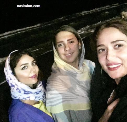 عکس های جدید پریناز ایزدیارودوستانش درکنار ساحل!!