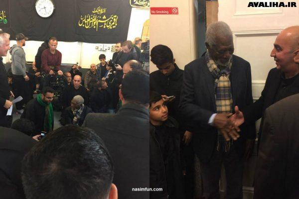 بازیگر هالیوودی مورگان فریمن در مراسم عزاداری امام حسین (ع)!!+عکس