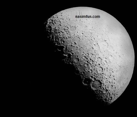 نقش بستن اسم امام حسین روی قرص ماه در شب عاشورا!!+عکس