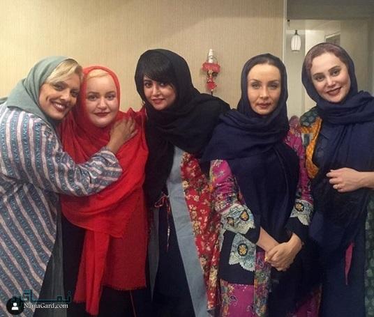 عکس مریم بلالی مقدم در کنار دیگر بازیگران