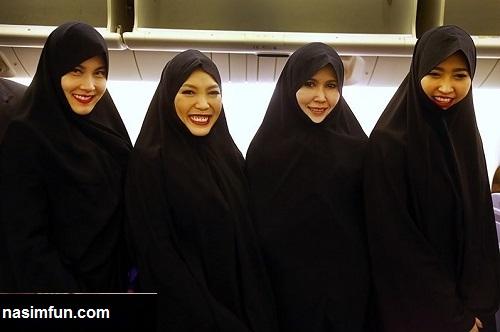 حجاب عجیب مهمانداران زن شرکت هواپیمایی تایلند در ایران!!!+عکس