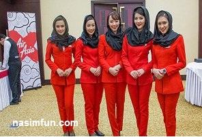 مزاحمت فوتبالیست معروف ایرانی برای مهماندارزن هواپیما!!