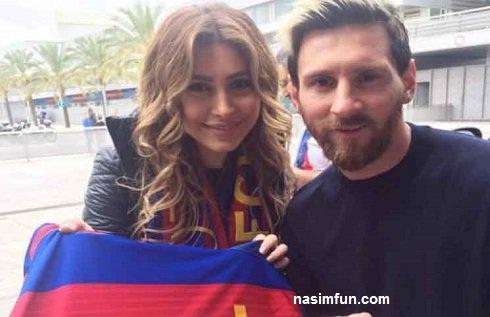 عکس جدید لیونل مسی با خواننده معروف زن عرب!!+عکس